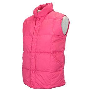 Lands End Girls Pink Goosedown Puffer Vest M 10 12